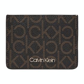 Card Holder Calvin Klein Mono - Brown Mono Mix