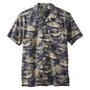 Navy Tropical Village Print