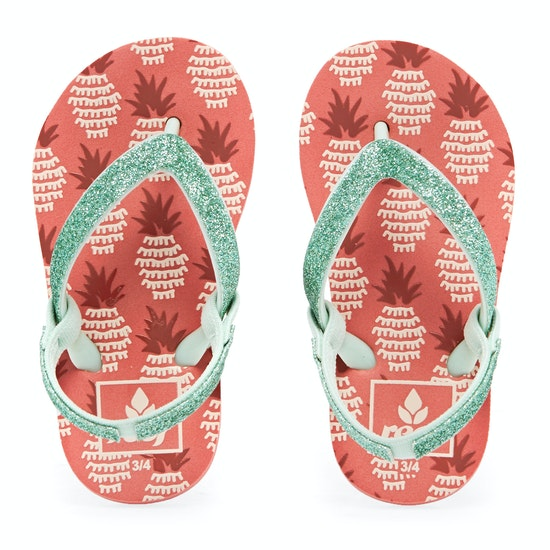 Reef Little Stargazer Prints Kids Flip Flops