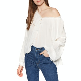Top Donna Free People Banda Blouse - Ivory