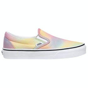Vans Classic Ladies Slip On Trainers - Aura Shift Multi True White