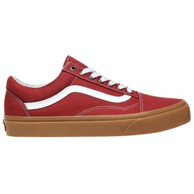 Vans Old Skool Gum Trainers - Rosewood True White