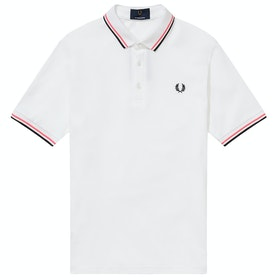 Fred Perry Re Issues Made In Japan Pique Polo-Shirt - White
