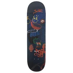 Magenta Vivien Feil Leap 8 inch Skateboard Deck - Multi