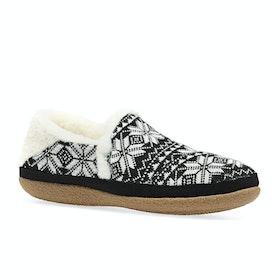 Toms Fair Isle Knit India Womens Slippers - Black