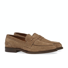 Tommy Hilfiger Classic Suede Loafer Dress Shoes - Classic Khaki
