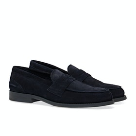 Tommy Hilfiger Classic Suede Loafer Dress Shoes - Desert Sky