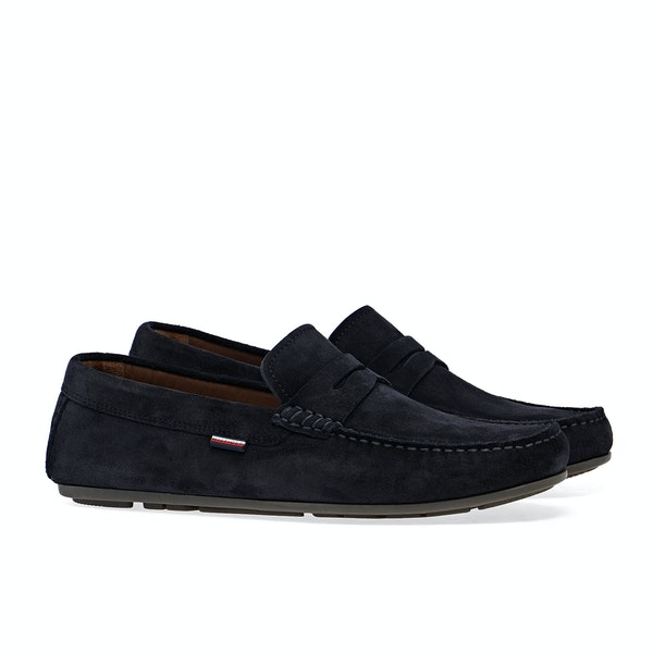 Tommy Hilfiger Classic Suede Penny Loafer Dress Shoes