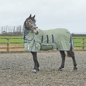 Derby House Elite Fly Stopper with Belly Flap Fly Rug - Silver Velvet Morning