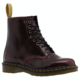 Botas Dr Martens Vegan 1460 Cambridge Brush 8 Eye - Cherry Red