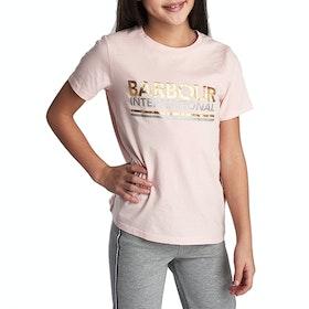 Barbour International Distance Girl's Short Sleeve T-Shirt - Cameo Pink