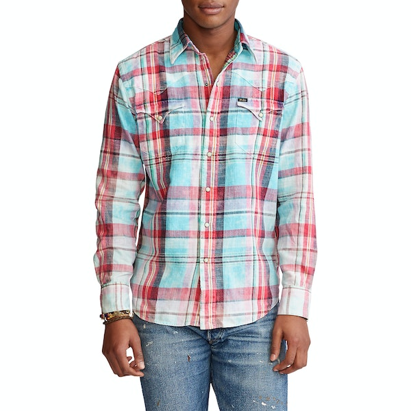 Camisa Polo Ralph Lauren Eyelet Pintucked Cotton
