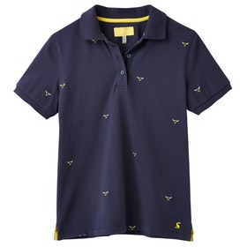 Joules Pippa Ladies Polo Shirt - Navy Bee