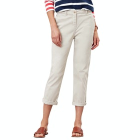 Joules Hesfordcrop Womens Kalhoty chinos - Ivory