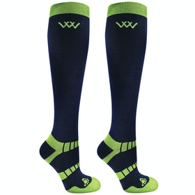 Riding Socks Woof Wear 2 Pack Winter - Navy Lime