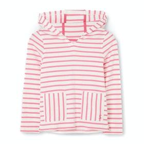 Pullover à Capuche Joules Astbury - White Pink Stripe