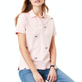 Joules Pippa Women's Polo Shirt - Pink Horse