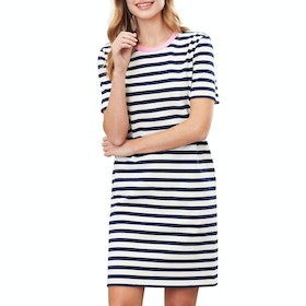 Joules Liberty A Line Jersey Dress - Navy Stripe