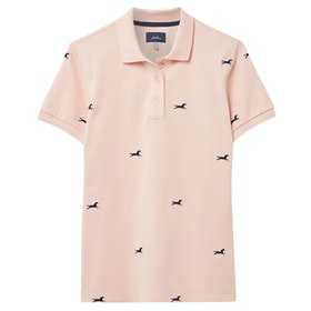 Joules Pippa Ladies Polo Shirt - Pink Horse