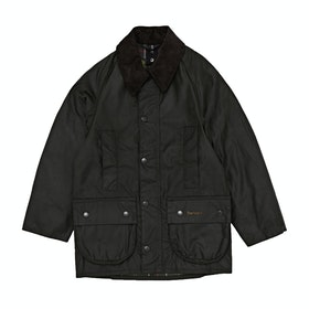 Barbour Classic Beaufort Edgewood Childrens Wax Jacket - New Olive