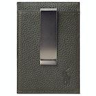Polo Ralph Lauren Pebble Leather Money Clip Wallet