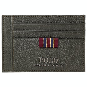 Portfel Polo Ralph Lauren Pebble Leather Money Clip - Olive