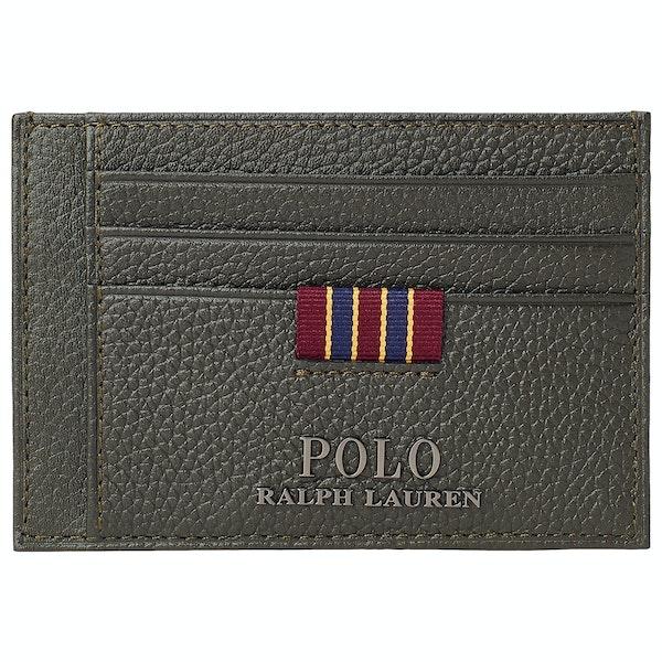 Polo Ralph Lauren Pebble Leather Money Clip Бумажник
