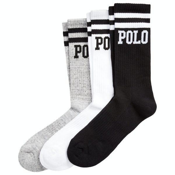 Polo Ralph Lauren Logo Crew 3-Pack Socks