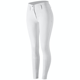 Horze Daniela Silicone Full Seat Ladies Riding Breeches - White