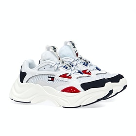 Scarpe Donna Tommy Jeans Fashion Chunky - White / Primary Red