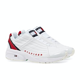 Scarpe Donna Tommy Jeans Heritage - White / Primary Red