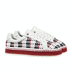 Scarpe Donna Tommy Hilfiger Interwoven - White Primary Red