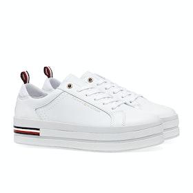 Tommy Hilfiger Modern Flatform Damen Schuhe - White