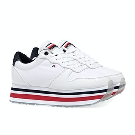 Scarpe Donna Tommy Hilfiger Piped Flatform - White / Primary Red
