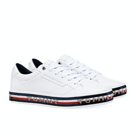 Scarpe Donna Tommy Hilfiger Sequin Foxing - White