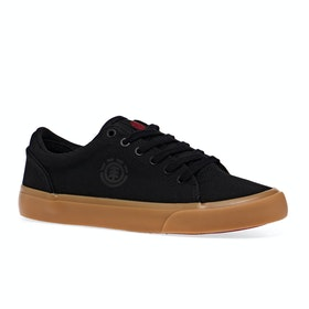 Element Youth Creeton Boys Shoes - Black Gum Red