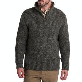 Barbour New Tyne Half Zip Mens Sweater - Derby Tweed