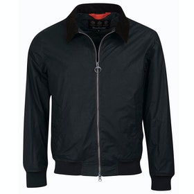 Barbour Advection Wax Jacket - Black