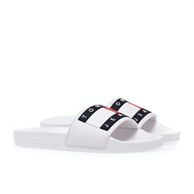 Tommy Jeans Flag Pool Sliders - White