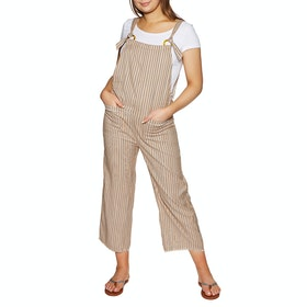 Billabong Run Wild Womens Dungarees - Khaki Sand
