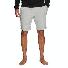 Calvin Klein Logo Waistband Sleep Short Loungewear Bottoms - Grey Heather Flame Scarlet
