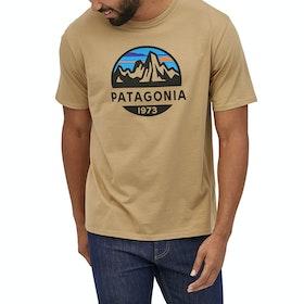 T-Shirt à Manche Courte Patagonia Fitz Roy Scope Organic - Classic Tan