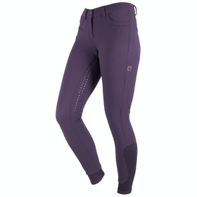 QHP Kaley Full Grip Ladies Riding Breeches - Grape Purple