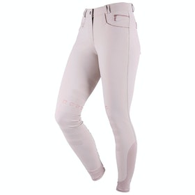 Riding Breeches Damski QHP Saona Leg Grip - Beige