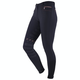 Riding Breeches Damski QHP Saona Leg Grip - Black