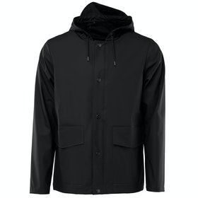 Rains Short Hooded Coat Jas - Black