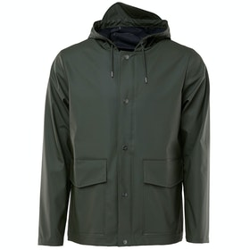 Rains Short Hooded Coat Jacke - Green