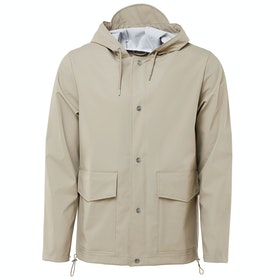Rains Short Hooded Coat Waterproof Jacket - Beige