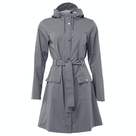 Rains Curve Dames Jas - Charcoal