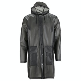 Rains Hooded Coat Damen Jacke - Foggy Black